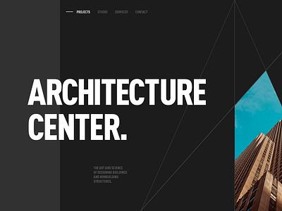 Aedas - Architecture web design designer concept minimal interface layout landing ux ui web