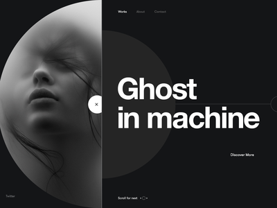 Grit - Portfolio landing page portfolio landing minimal concept website layout web ux ui design homepage