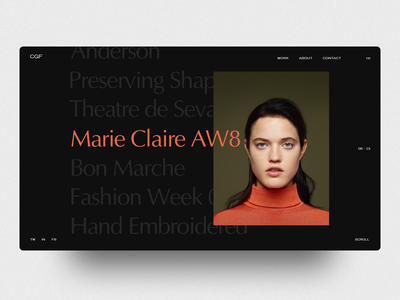 CGF - Fashion clean fashion typography web design web minimal layout landing interface concept ux ui