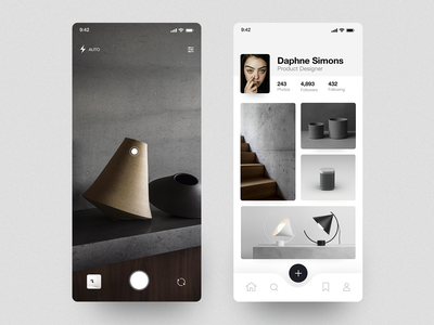 Photo Sharing App cards layout clean photo photography mobile concept app ios minimal ux interface ui