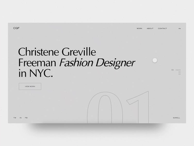 CGF Fashion - Website portfolio user interface homepage clean layout web design landing minimal fashion web animation interface typogaphy ux ui