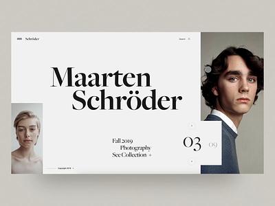 Photography Portfolio - Maarten Schröder user interface fashion homepage web concept minimal interface web design photography landing layout ux ui
