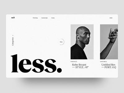 Neil Bedford - Portfolio Website portfolio design images photography advertising typography layout portfolio web design web minimal interface ux ui