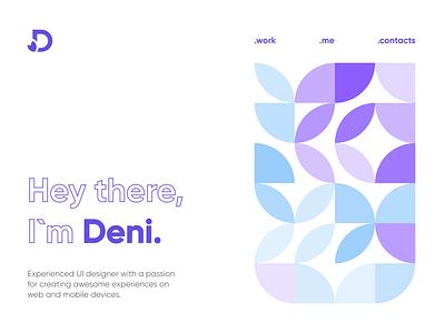 Deni.Me portfolio site minimal typography ux vector branding ui logo illustration design portfolio design portfolio