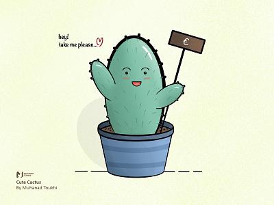 Cute Cactus procreate friendly green illustration cute art cactus cute