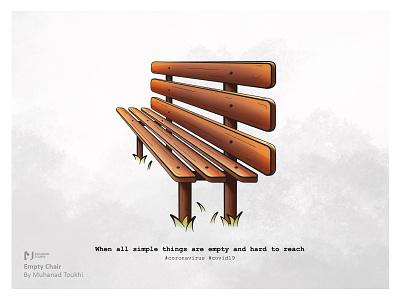Empty Chair adobe illustrator empty chair coronavirus corona covid-19 covid19 procreate design illustration vector