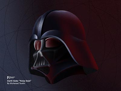 """Darth Vader """"Noise Style"""" apple force dark ipadpro procreate illustraion light style noise disney starwars"""
