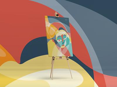 Emotional Fluidity flat illustraion fluidity fluid artwork face sketch ipadpro procreate vector design illustration art colors emotional artistic