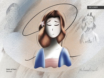 State of Hart noise artwork sketch hart sadness girl sad illustration design deviser