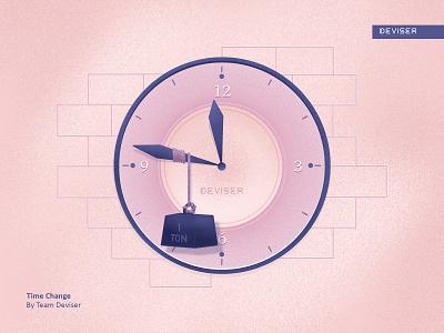 Time Change clock drawing procreate time design sketch illustration deviser