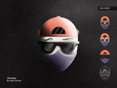 1X5 Styles colors noise maskman 3d style ipadpro illustration deviser drawing face procreate