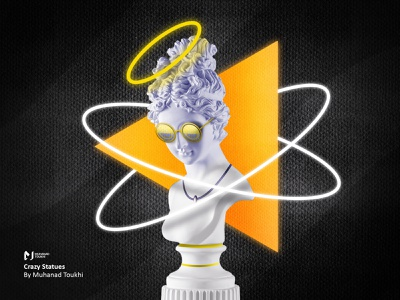 """Crazy Statues """"one"""" illustration black new modern classic old crazy statue"""