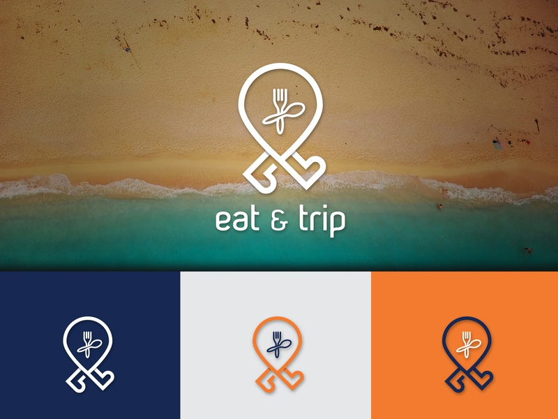 Eat & Trip Logo Design icon logo logo design youtube channel education best designer typography elegant walking logo spoon logo location icon app logo design minimalist logo flatlogodesign eat logo graphic design logo design branding
