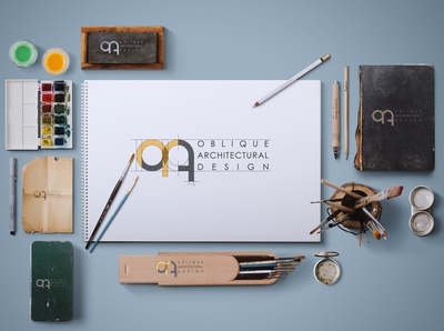 Oblique Architectural Logo Design