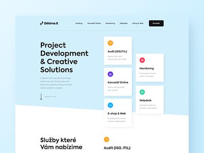Děláme.it | One page website logo solutions development it web landing page ui webdesign design