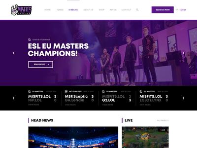 Misfits Gaming | Website Concept | Homepage