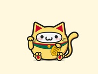 KHAB Character in Chinese lucky cat costume