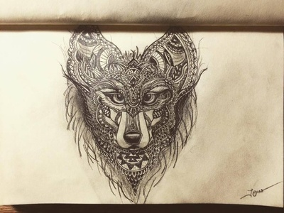 Wolf drawingart drawings drawing draw sketch wolf