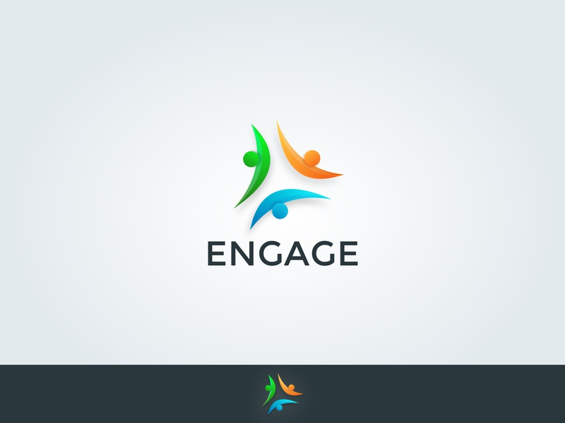 Engage logo vector branding people logo peoples people design logo