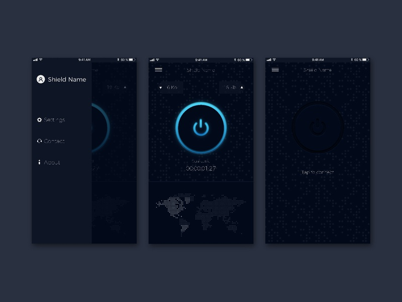 VPN App Design design user interface ux ui  ux ui design uiux ui vpn app vpn application app design app