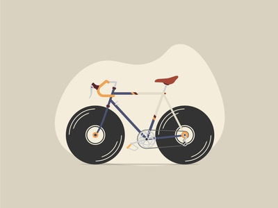 Bicycle with vinyl disc wheels