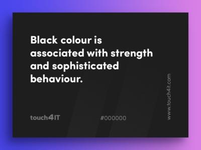 Colour Psychology - Black gradient 000000 touch4it black psychology colour