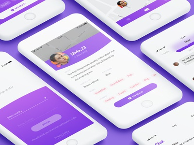Dating App dating illustration color android ios iphone ux ui design app