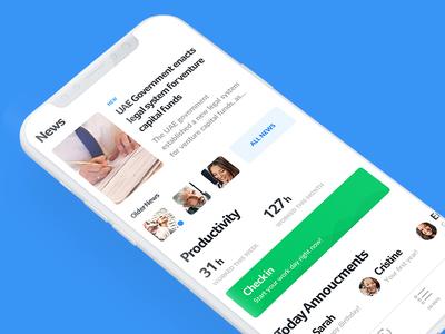 HR Management iphone x ios mobile app ui ux minimal colors flat design