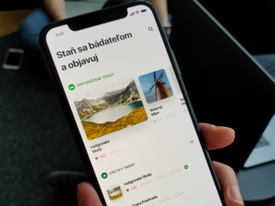 Hike Routes App ui color like favourite layout grid app list hike ios iphone iphonex