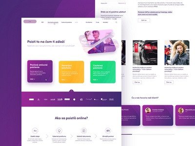 Online Insurance design layout modern fresh color vibrant insurance ux ui website web