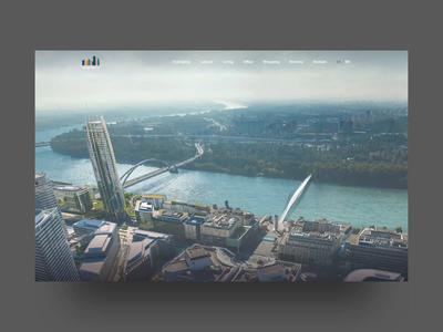 Eurovea City city developer real estate animation landing page landing website web ui