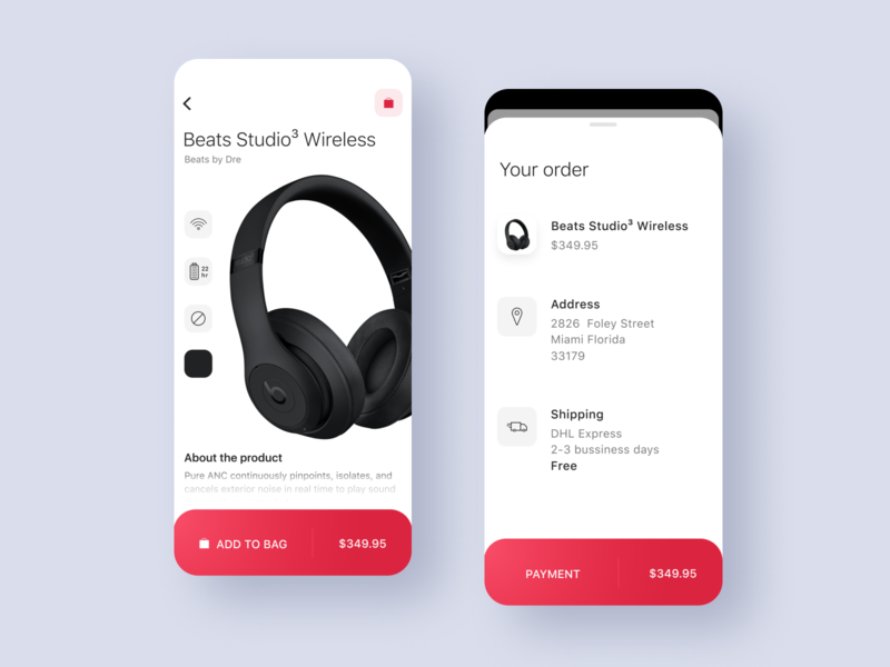 Beats by Dre Concept app headphones ux iphonex ios iphone