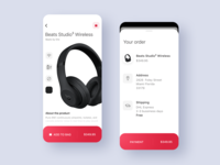 Beats by Dre Concept app headphones ux iphonex ios iphone