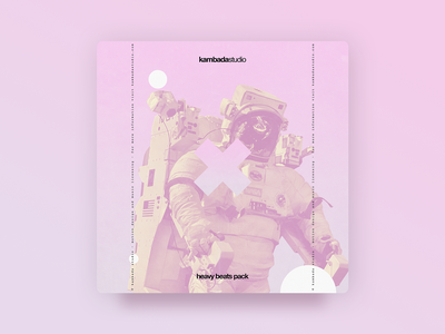 Kambada Heavy Beats Pack - Cover pink circles cross licensing licence music astronaut photoshop gradient design gradient graphic design