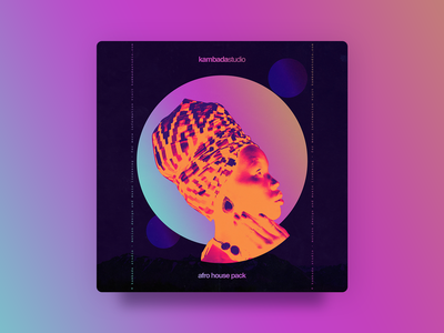Afro House Pack - Cover gradients gradient cover design cover music circles photoshop