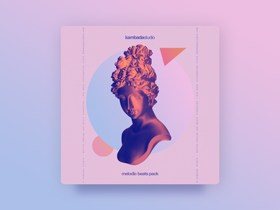 Kambada Melodic Beats Pack - Cover pink circles triangle shapes music music album graphic design gradients photoshop statue