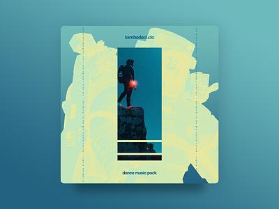 Kambada Dance Music Pack - Cover gradient blues sky label music cover astronaut photoshop graphic design design