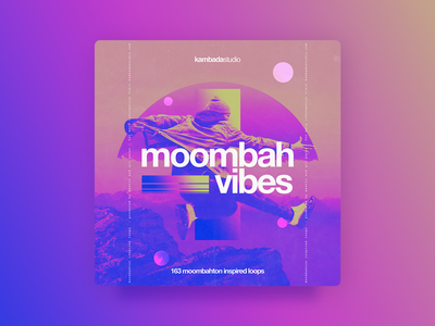 Kambada Moombah Vibes - Cover photoshop mountain jumping gradients pinks loops moombahton graphic design