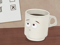 Thinking Coffee Cup