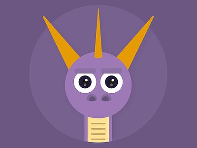 Spyro character vector illustrator illustration spyro