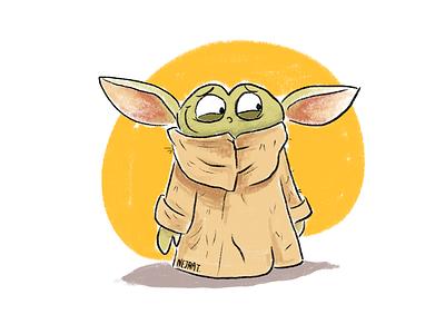 Baby Yoda illustration characterdesign