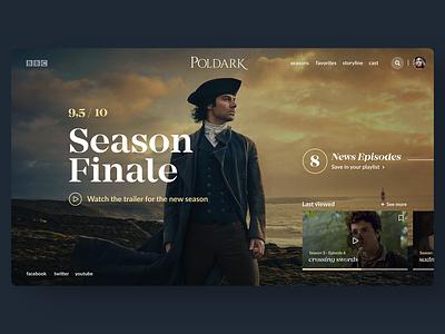 Poldark Site carousel parallax carrousel tv tv series tv shows tv show tv app serie poldark