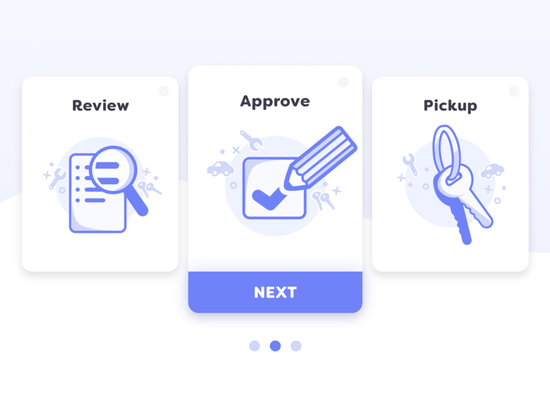 Auto Service Onboarding service app car  auto car app review check box illustration design vector flat app icon onboarding illustration onboarding flow ux keys icon design ux  ui ui onboarding icons