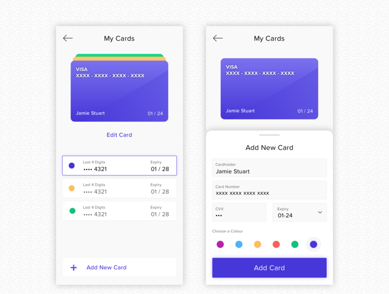 Add Credit Card add payment payment wallet checkout edit card add card add ux ui dailyui dailyui 002 credit card checkout form credit card