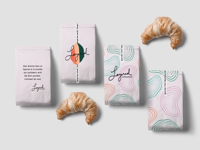Layered Croissanterie Brand Packaging