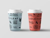 Ladle Leaf Coffee Cup Design
