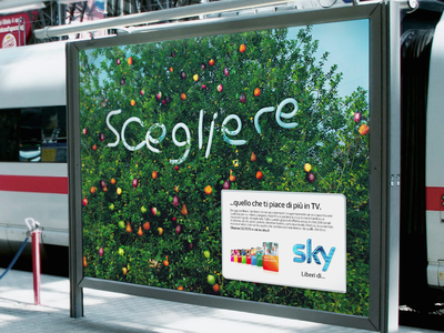 SKY TV(IT) BRANDING typography advertisement campaign