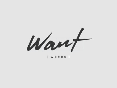 WANT WORDS IDENTITY branding identity typography logo