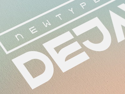DejavuTF - In Detail sa-serif headline poster decorative block bold angular typeface new dejavutf font