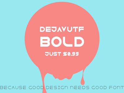 DejavuTF-bold now sale! good design font typeface